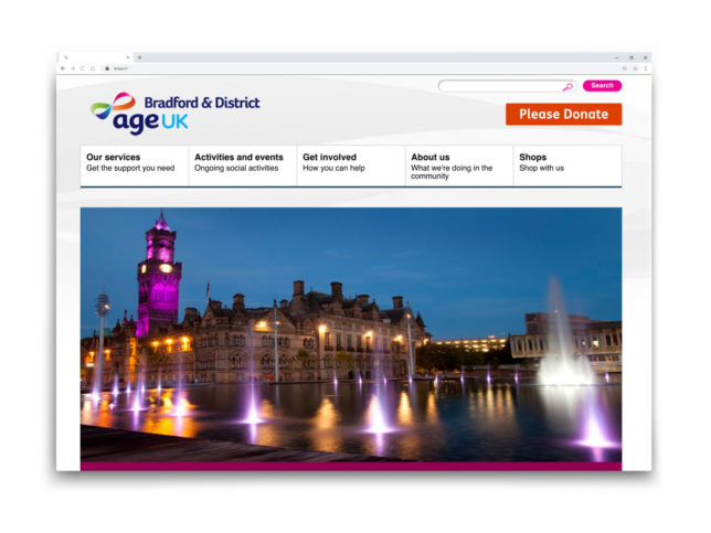 Age Uk Bradford Website