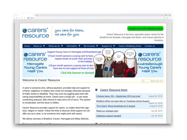 Carers' Resource Website